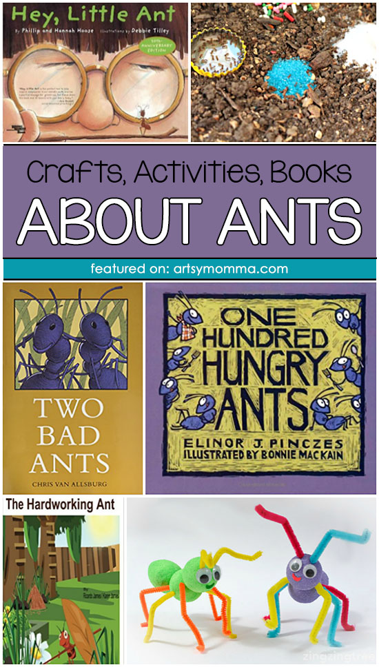 Crafts, Books, and Activities About Ants