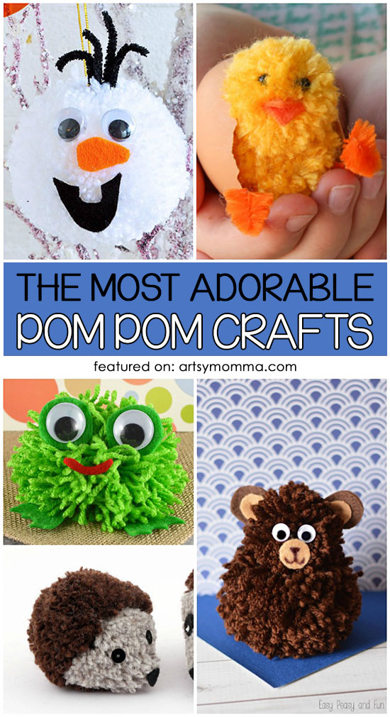 The Most Adorable Diy Pom Pom Crafts For Kids Artsy Momma