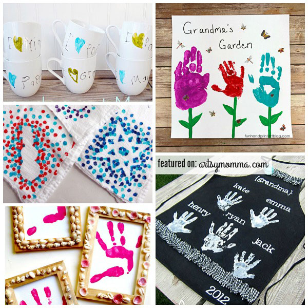 Homemade gifts for grandparents made by children artsy momma for Homemade gifts from toddlers to grandparents