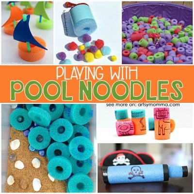 Clever Pool Noodle Play Ideas for kids of all ages!