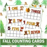 Fall Math Preschool Printables: Woodland Animals & Leaf Theme