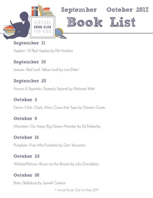 Kids Virtual Book Club List with Themes