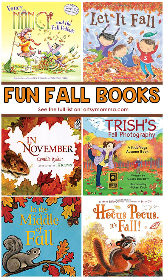 Fun Fall Picture Books for Kids including Board Books