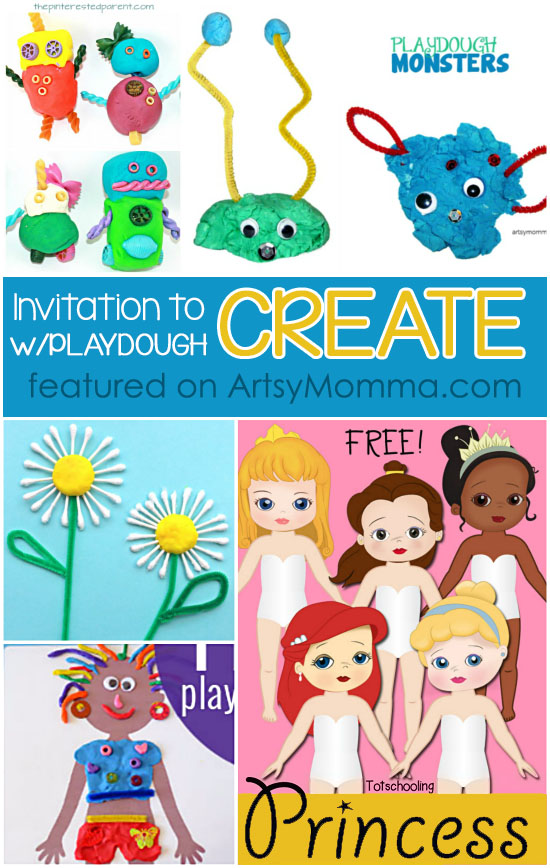 Invitation to Create with Playdough - 100+ Tray Ideas, Printables, & More!