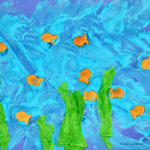 Homemade Puffy Paint Ocean Collage Art Project for Preschoolers