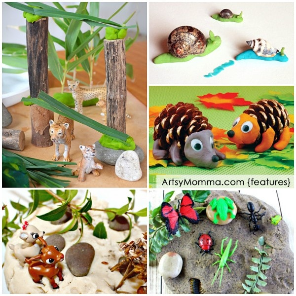 Playdough Animals and Bugs - Playdough Small Worlds