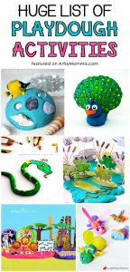 Playdough Animals and more super fun playdough activities to do with kids!