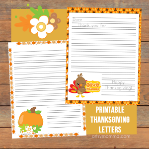 Printable Thanksgiving Writing Activity - Graitude Letters