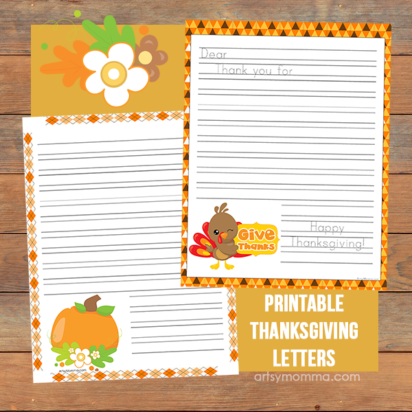 Printable Thanksgiving Gratitude Letters - Encourage Kids to Be Thankful