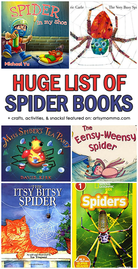 Huge List of Books About Spiders