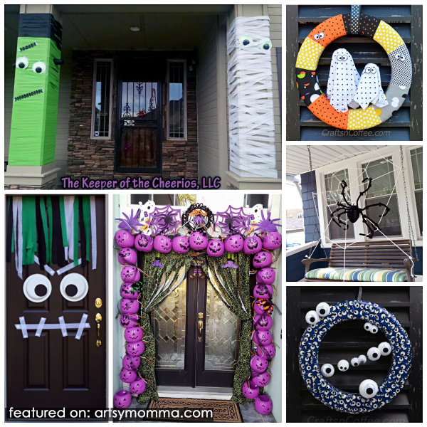 Halloween Door & Entryway Decorations that are kid-friendly