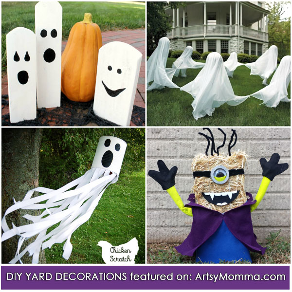Easy diy halloween decorations adults can make that are kid friendly easy diy yard decorations for halloween that are fun kid friendly solutioingenieria Images