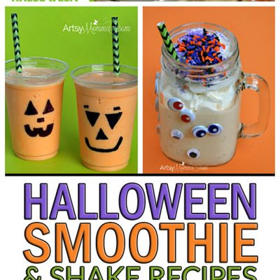 Frightfully Fun Halloween Smoothie and Shake Recipe Tutorials