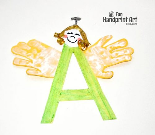 Letter A Handprint Angel Craft