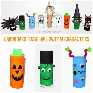 Recycled TP Tube Halloween Characters - Kids Craft Ideas