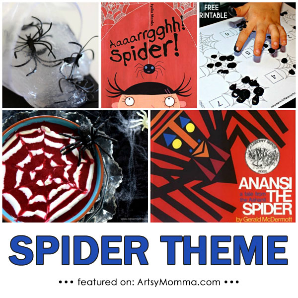 Spider Crafts, Activities, Snacks, Books