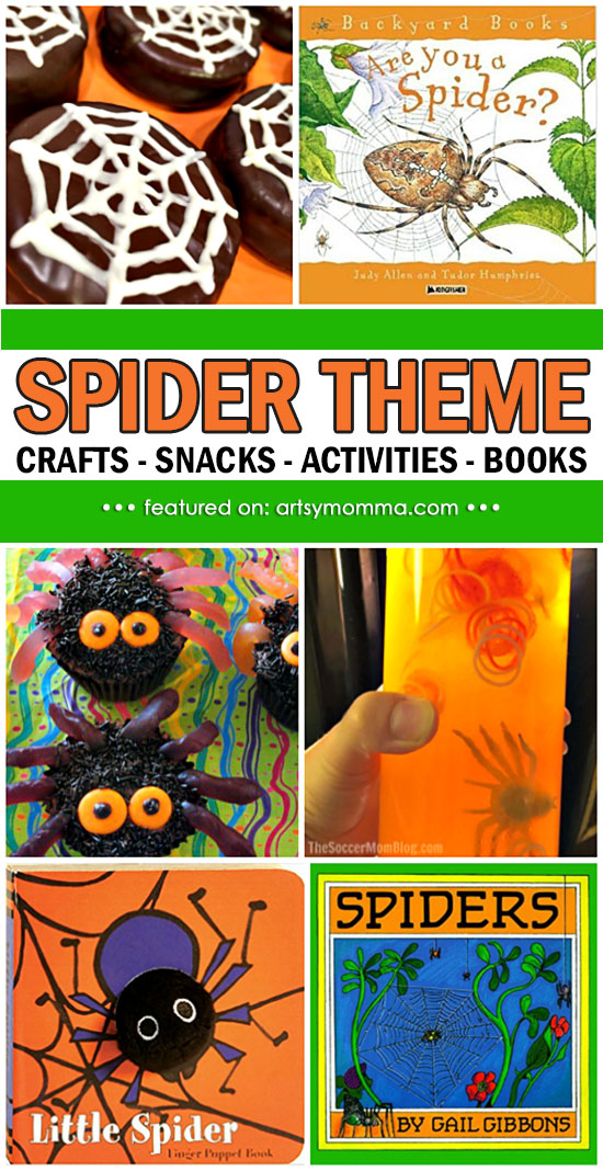 Fun Crafts, Snacks, Books, & Activities for a Spider Theme