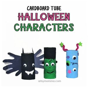 Cardboard Tube Bat, Frankenstein, and Monster Craft Ideas for Halloween