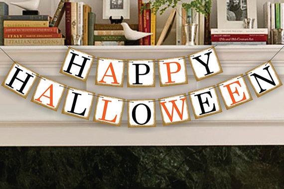 Handmade Happy Halloween Banner