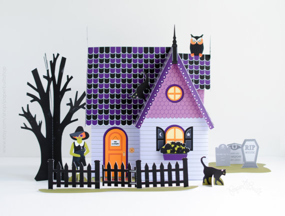 DIY Halloween Haunted House Kit Paper Dollhouse