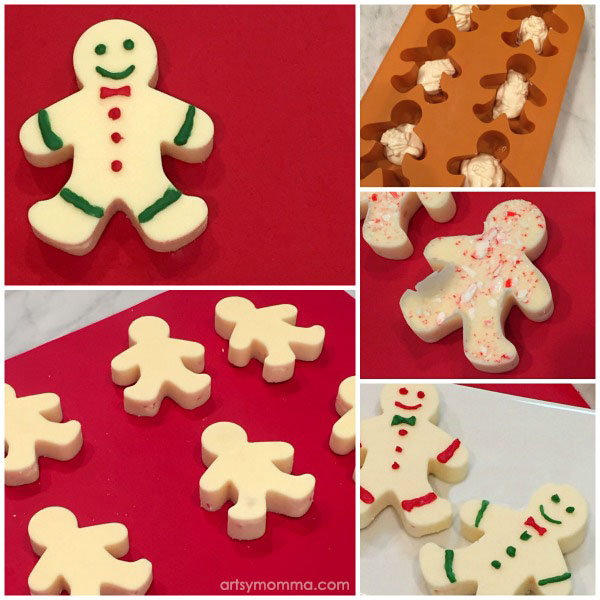 Christmas Peppermint Candy Treats Tutorial - Gingerbread Shaped