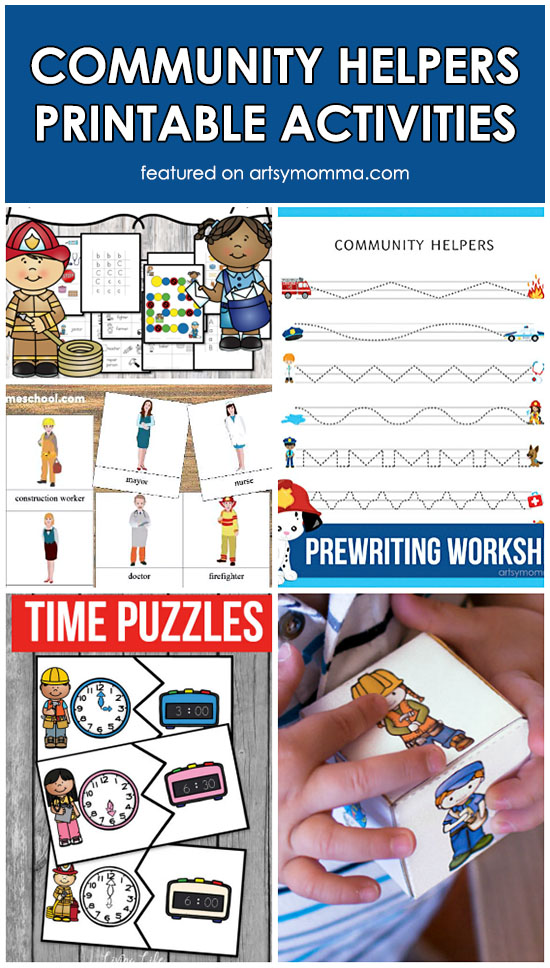Printable Community Helpers Activities