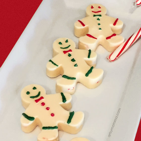 Yummy Peppermint Candy Christmas Treat Shaped Like Adorable Gingerbread Men