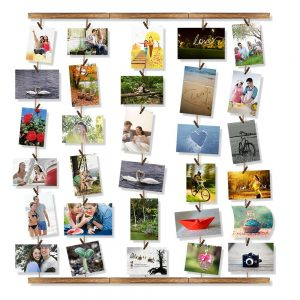 Multi Photo String Hanging Wall Display