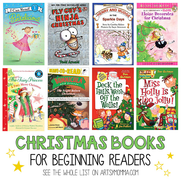 Fun Christmas Book List for Beginning Readers from popular series