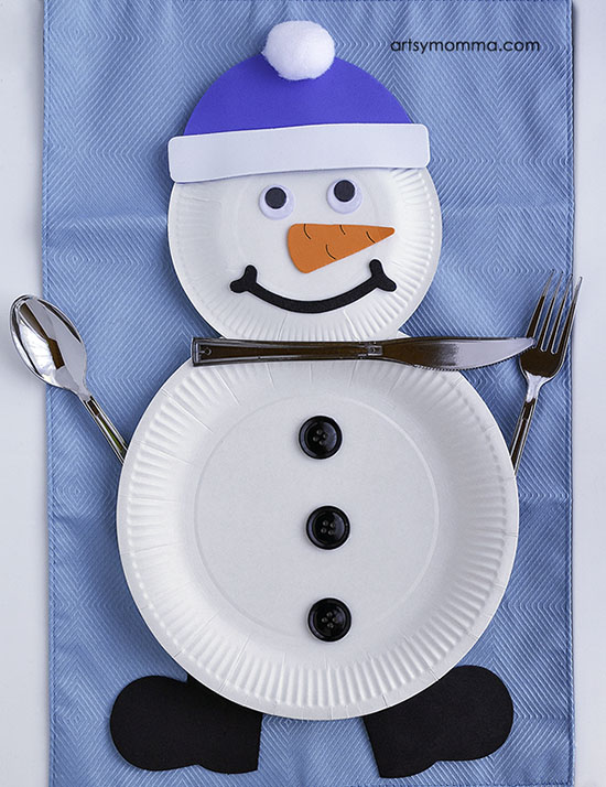 Creative Snowman Table Setting for Kids