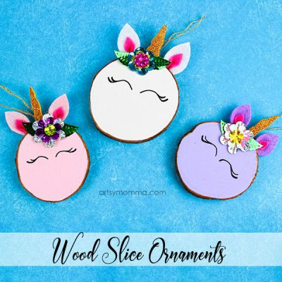 Magical Wood Slice Unicorn Ornaments – Handmade Gift Idea