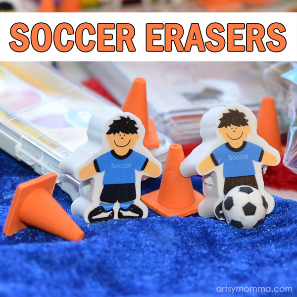 Fun Stocking Stuffer Idea for Soccer Fans: Soccer Ball & Players Erasers