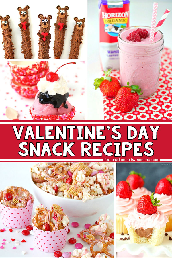 Cute & Simple Valentine's Day Snack Recipes for Kids or Party