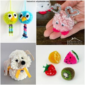 DIY Pom Pom Tutorials & Craft Ideas - Imaginative Kids Play