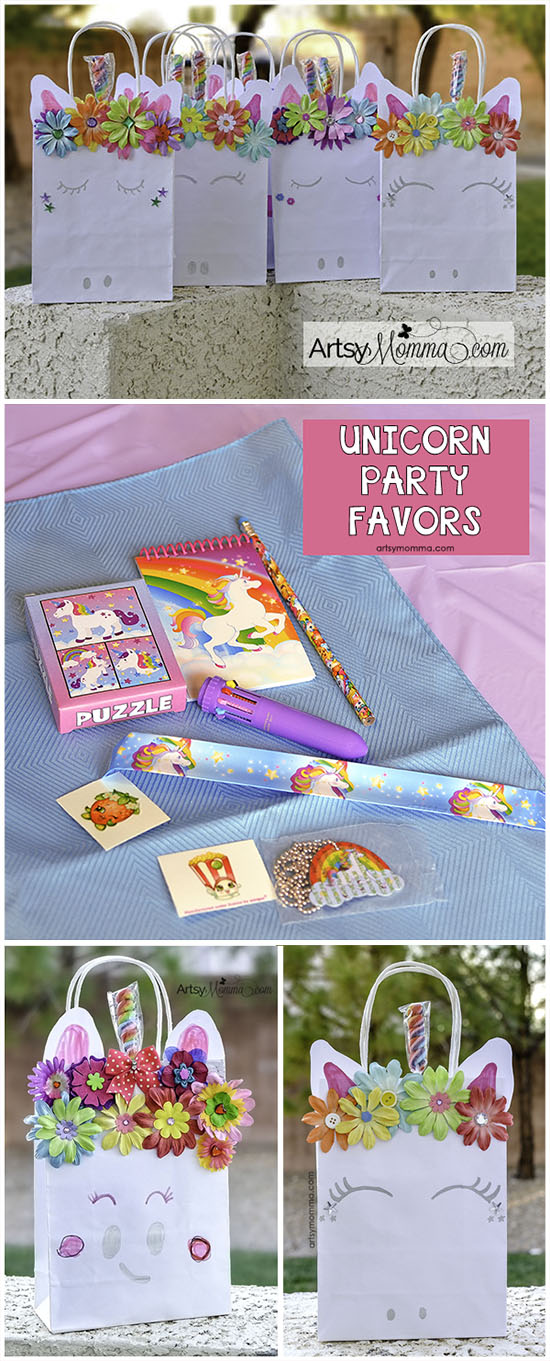 Magical DIY Unicorn Bags and Rainbow Unicorn Party Favor Ideas