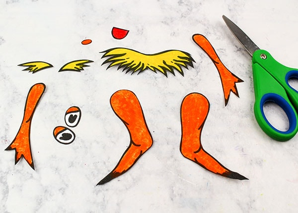 Craft Template for Lorax Craft - Dr Seuss-inspired Activity