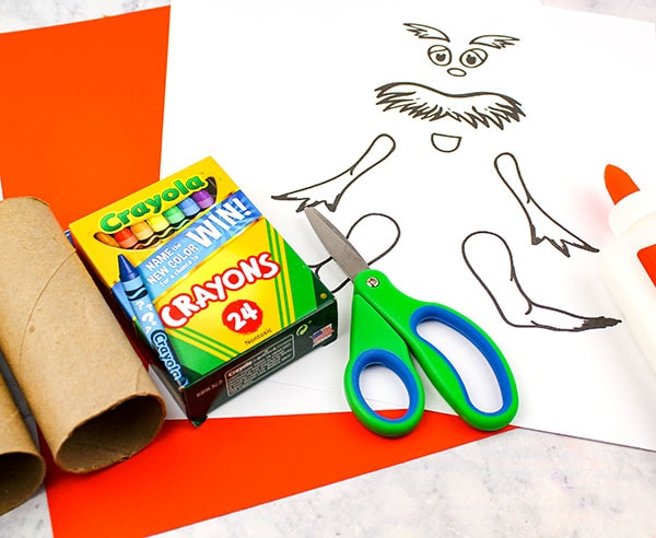 Printable Lorax Craft Template