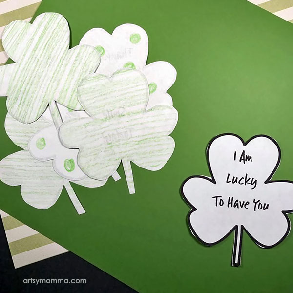 Printable Shamrock Template - Make Kindness Clovers as a fun activity.