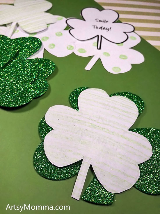 St Patrick's Day Printable for Kids: Kindness Clovers