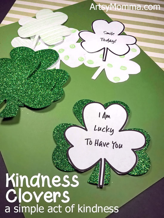 Kindness Clovers Printable St. Patrick's Day Activity for Kids - A simple act of kindness idea.