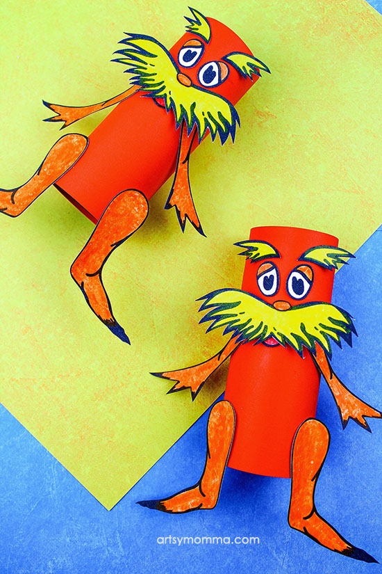 Dr Seuss Cardboard Tube Craft - Lorax