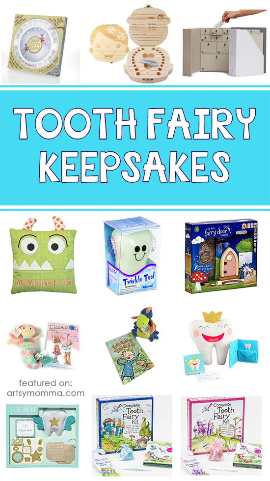 Adorable Tooth Fairy Keepsakes to make lLost Tooth Milestones Memorable - including pillows, books, and boxes.