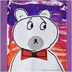 Polar Bear Collage Art - Winter Mixed Media Project for 1st Graders