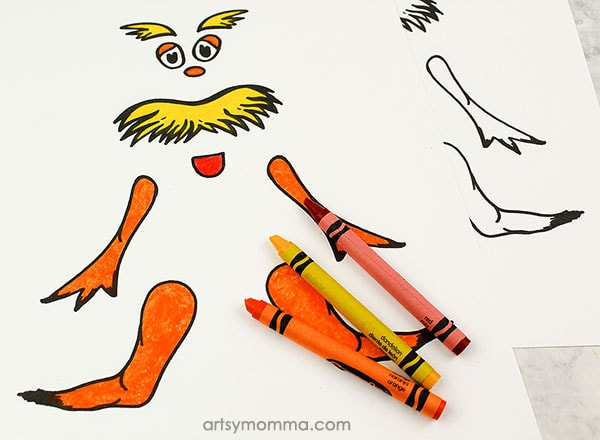 Lorax Coloring Template