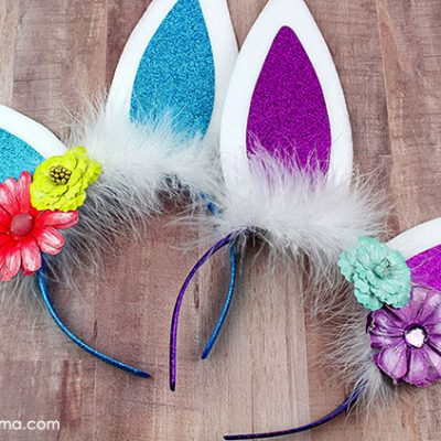 DIY Bunny Ears Headband Tutorial for Easter or Spring