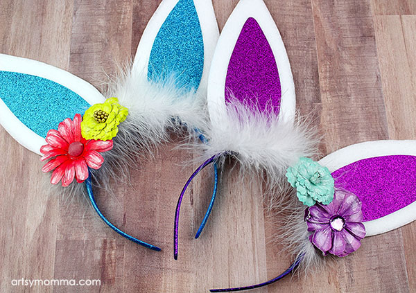 Super Cute Easter Bunny Ears Headband Tutorial