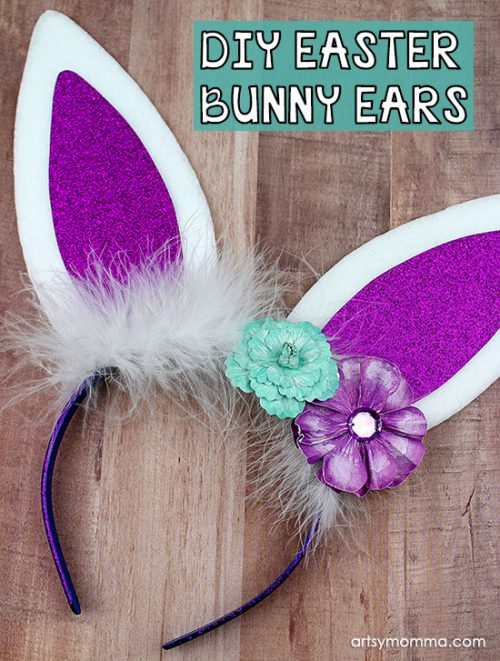 DIY Bunny Ears Headband Tutorial for Spring or Easter