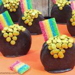 Pot of Gold Oreo Rainbow Treats for St Patrick's Day