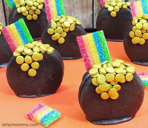 Pot of Gold Oreo Rainbow Treats for St Patrick's Day