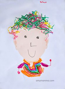 Idea for Reusing Easter Grass for Kids Crafts